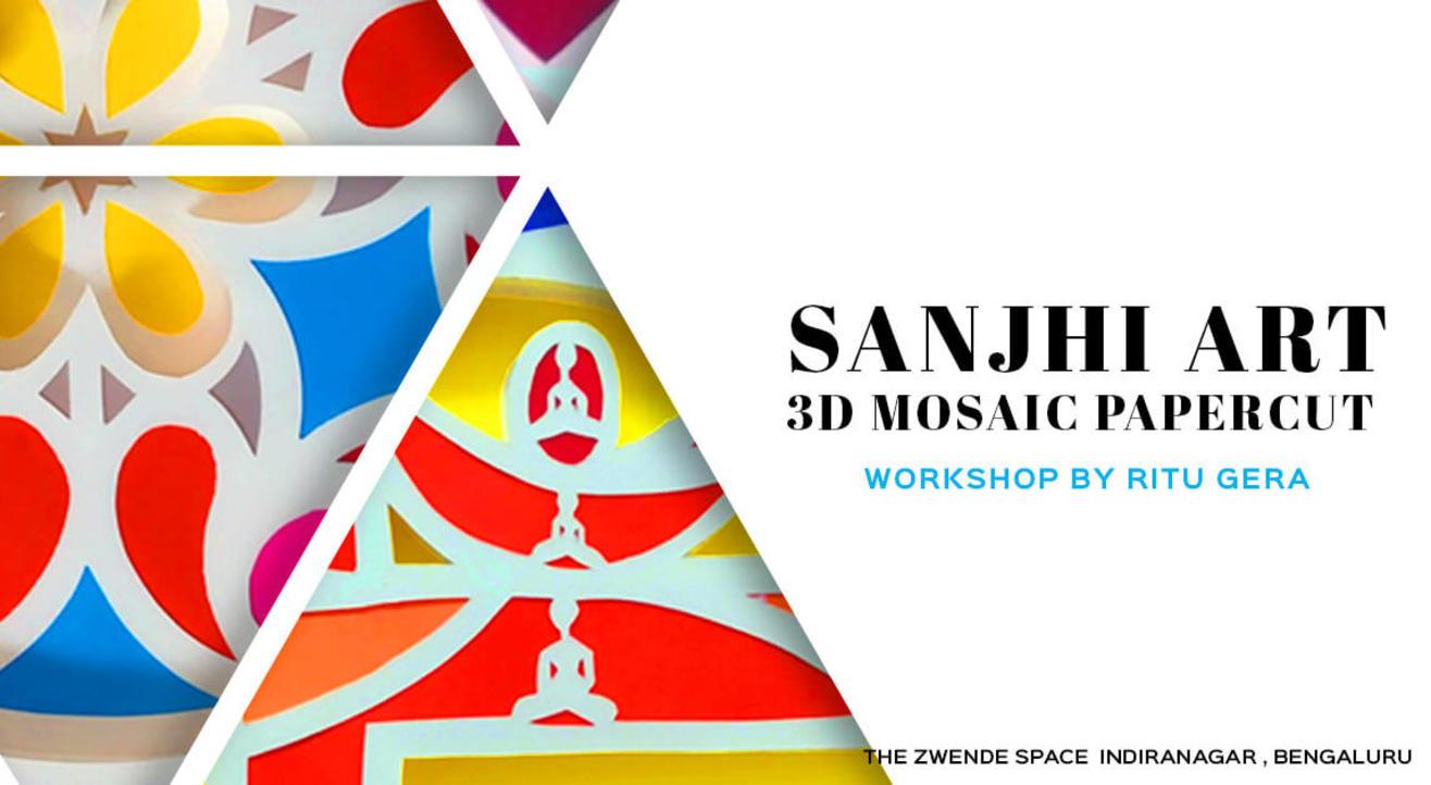 Sanjhi Art - 3D Mosaic Papercut Workshop by Ritu Gera