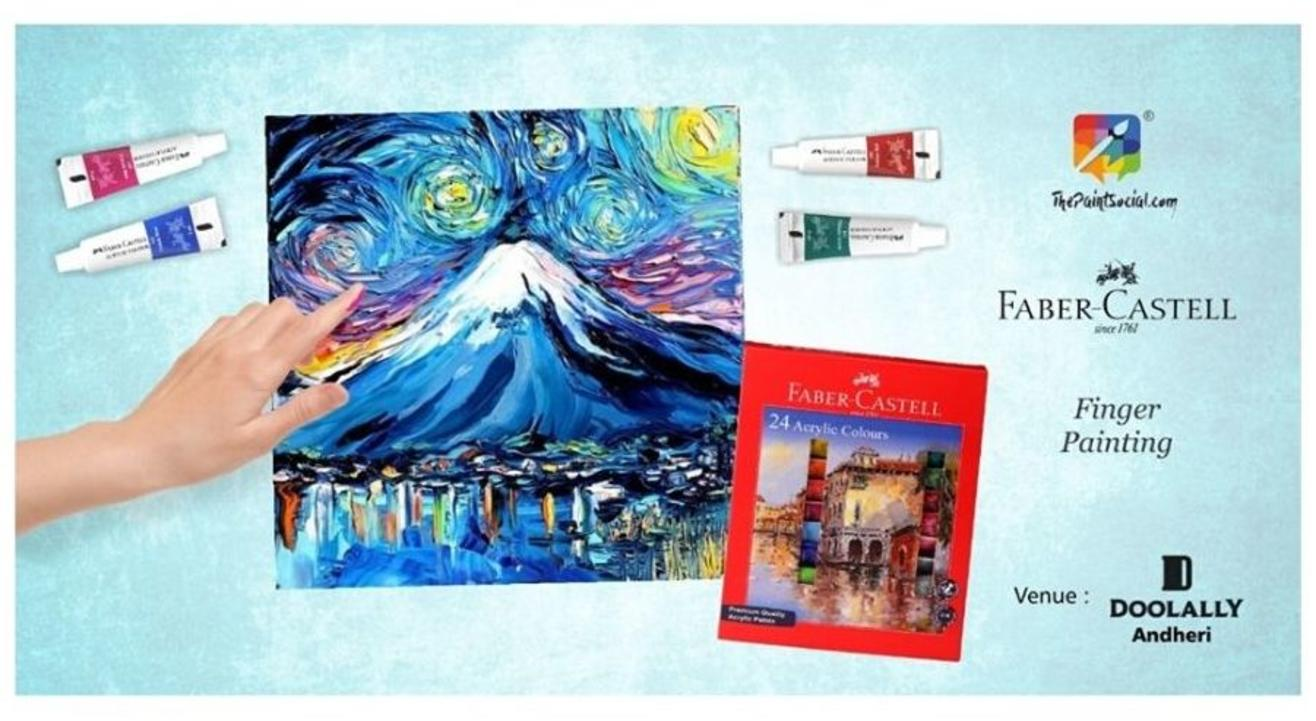 Mt Fuji Finger Canvas Painting: By The Paint Social