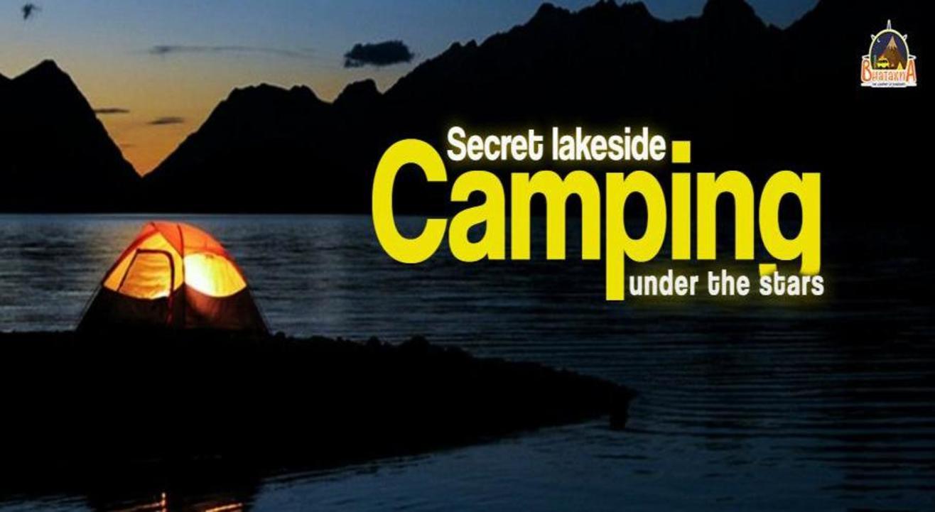 Secret lakeside Camping under the stars