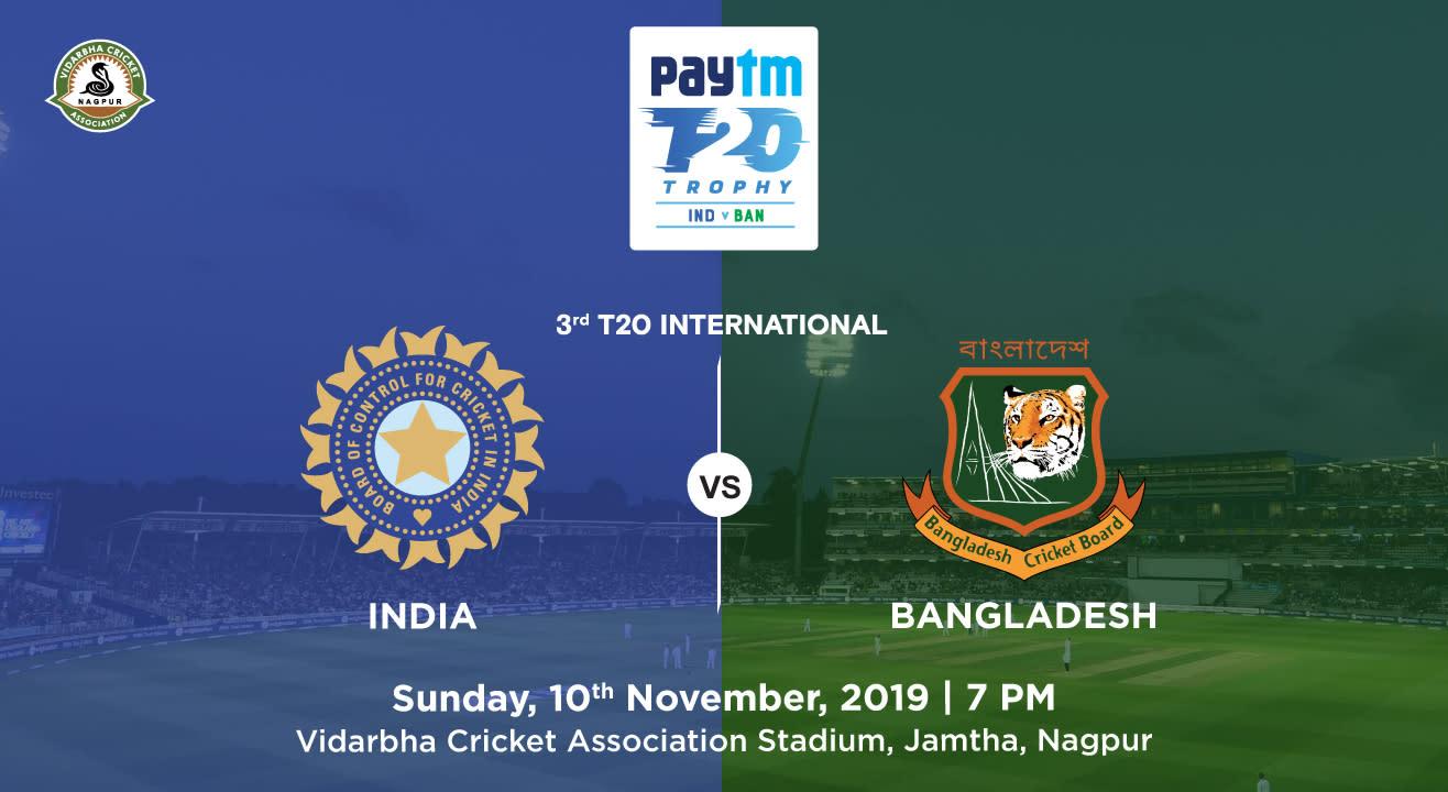 Paytm Series 3rd T20I: India v Bangladesh, Nagpur