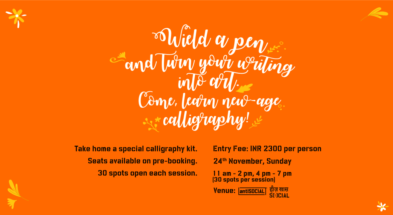 Lettering & Calligraphy Workshop by Pink Magnet at antiSOCIAL