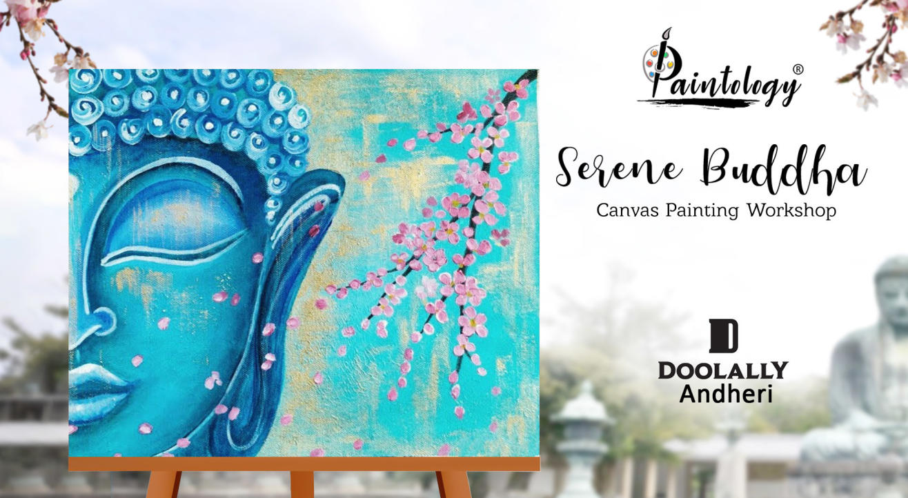 Serene Buddha' Canvas Painting Party at Andheri by Paintology