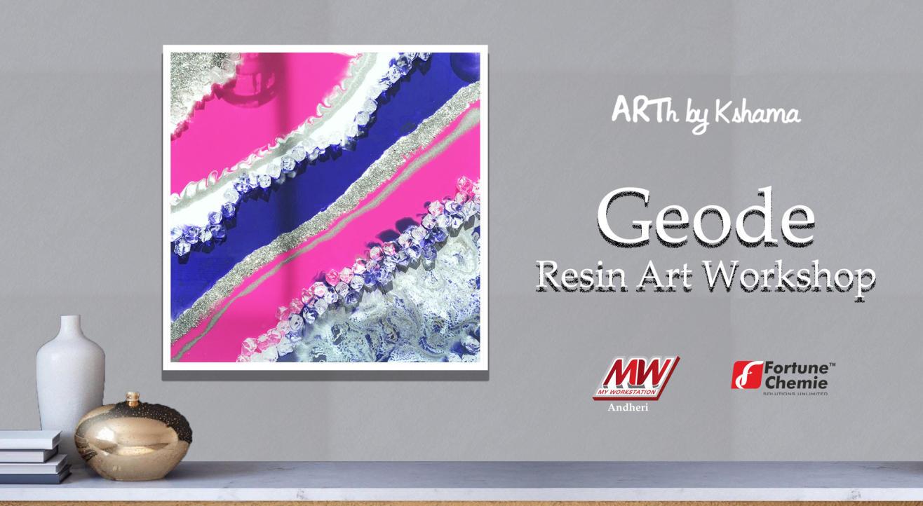 Geode Resin Art Workshop- ARTh by Kshama