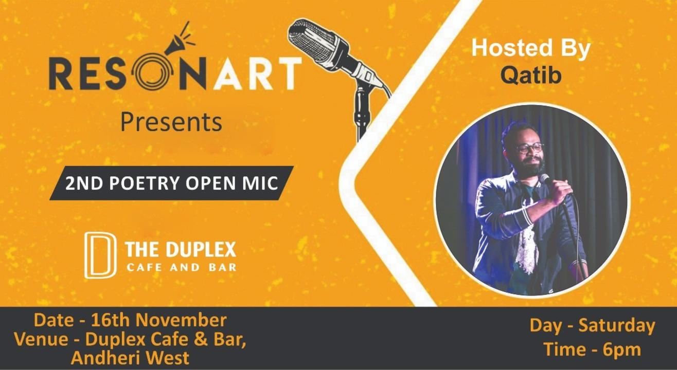 Resonart presents Poetry Open Mic