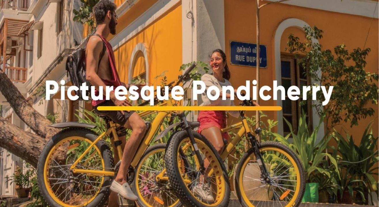 B:Live E-bike Tours - Picturesque Pondicherry