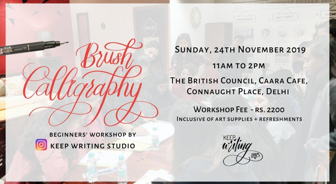 Brush Calligraphy Workshop- Connaught Place