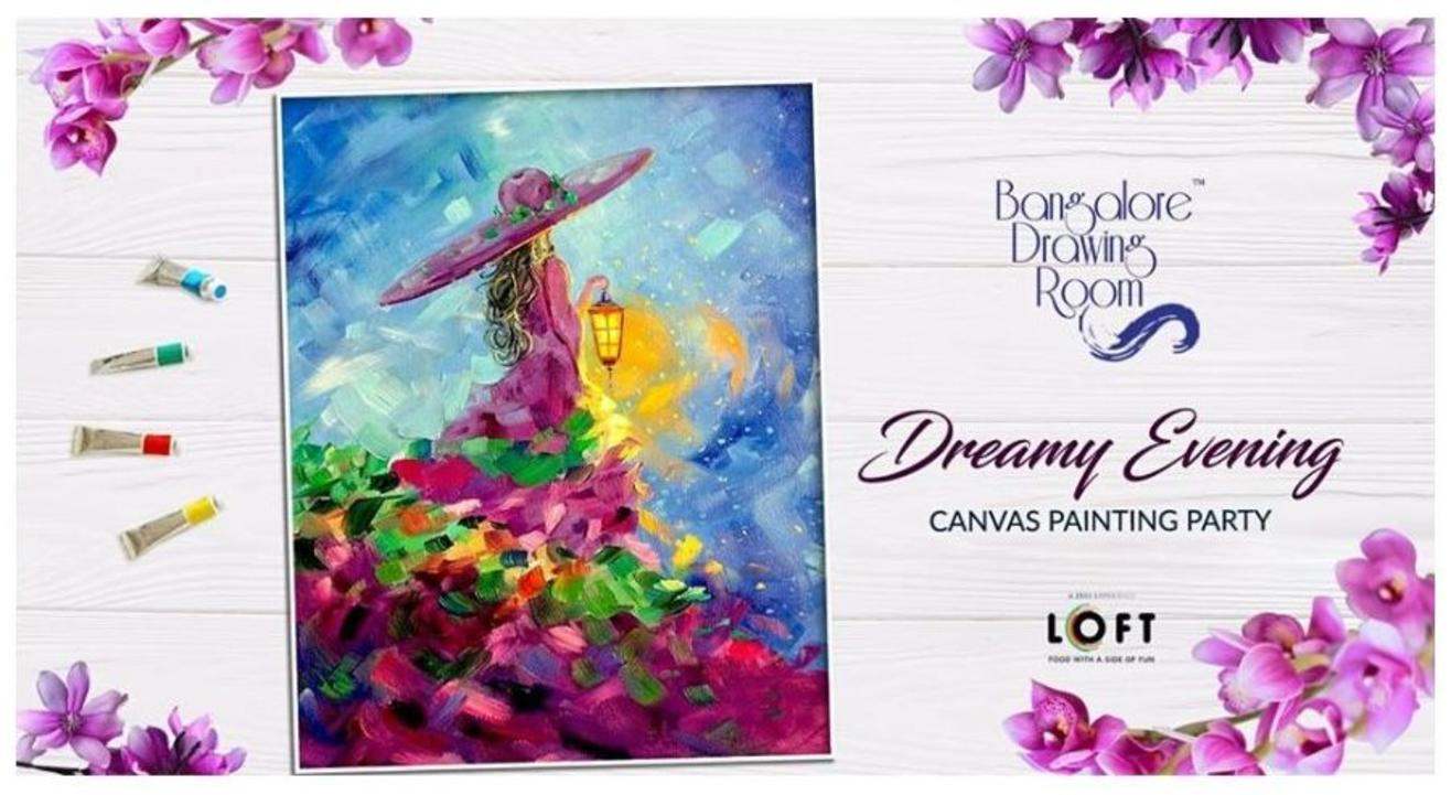 Dreamy Evening Canvas Painting Party-By Drawing Room