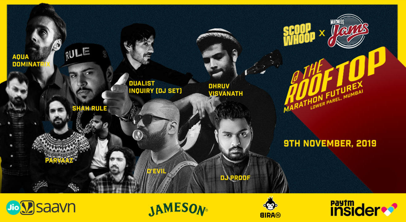 Scoopwhoop x Madness JAMS @ The Rooftop