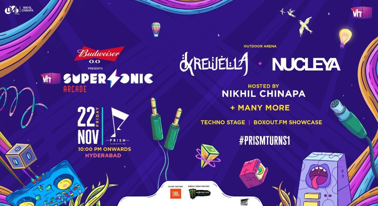 Vh1 Supersonic Arcade x Prism Turns 1 ft. Krewella and Nucleya