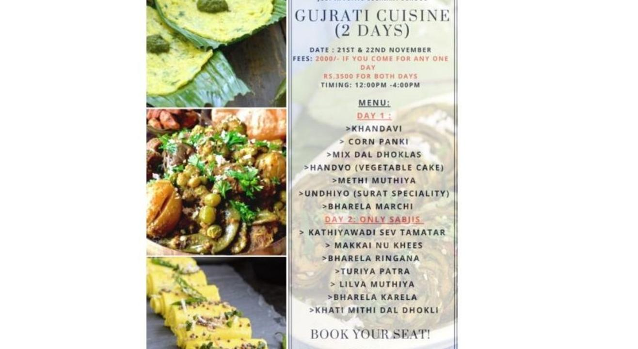 Across Indian Cuisines Festival – Gujarati Cuisine ( 2 Days): By Just Appetite