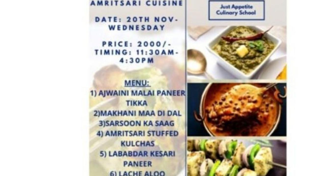 Across Indian Cuisines Festival – Amritsari Cuisine:By Just Appetite