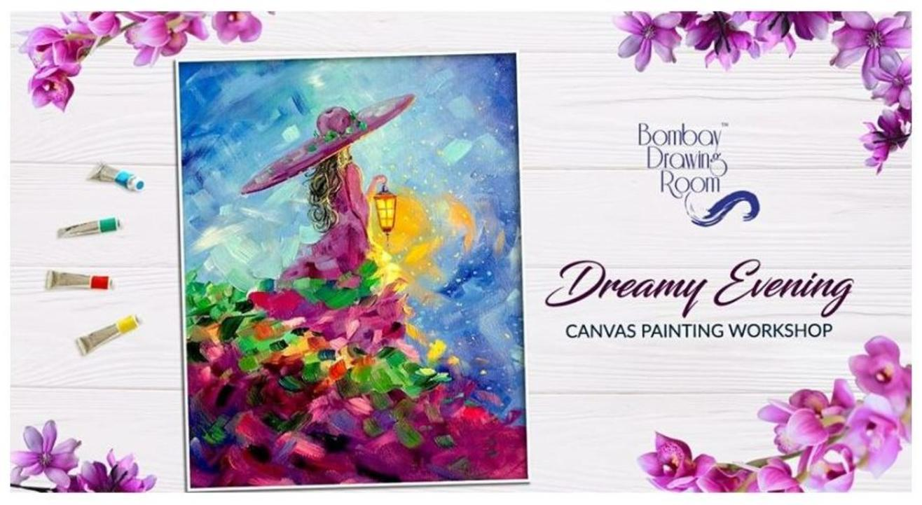 Dreamy Evening Canvas Painting Workshop- By Bombay Drawing Room