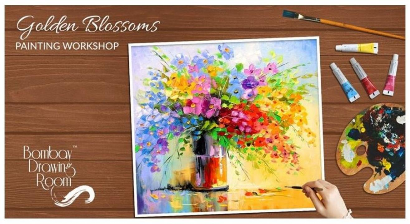 Golden Blossoms Painting Workshop-Bombay Drawing Room