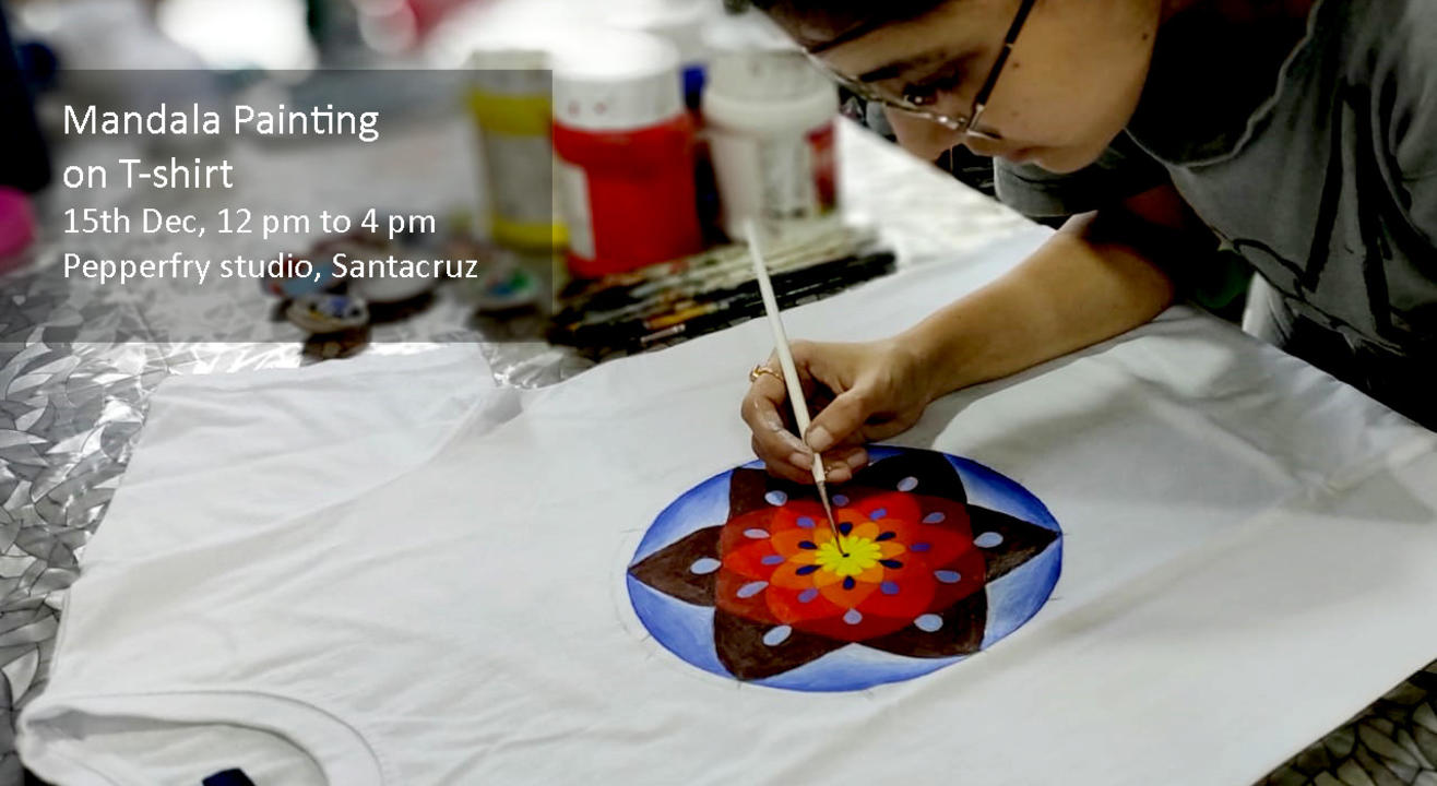 Mandala Painting on T-shirt