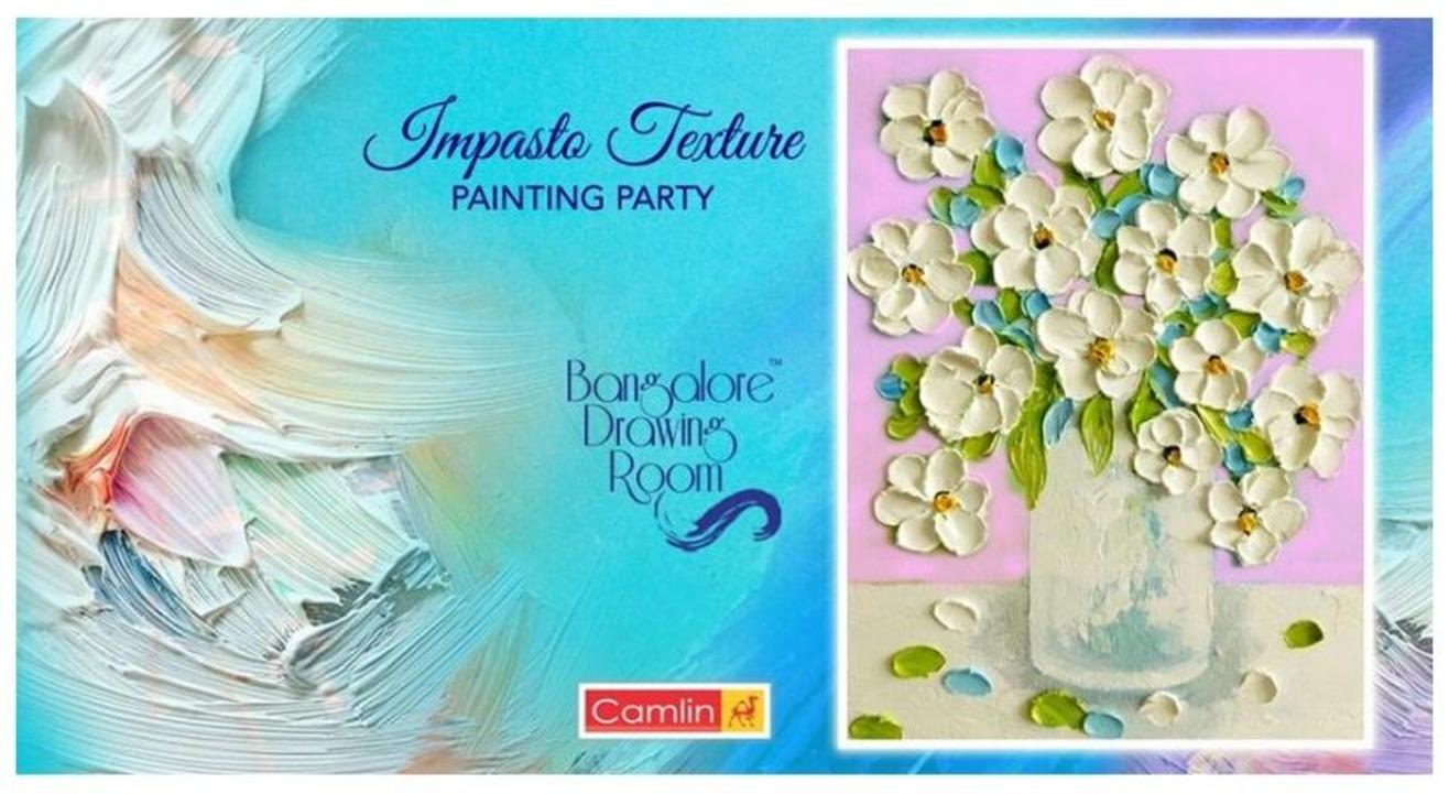 Impasto Texture Painting Party- By Bangalore Drawing Room
