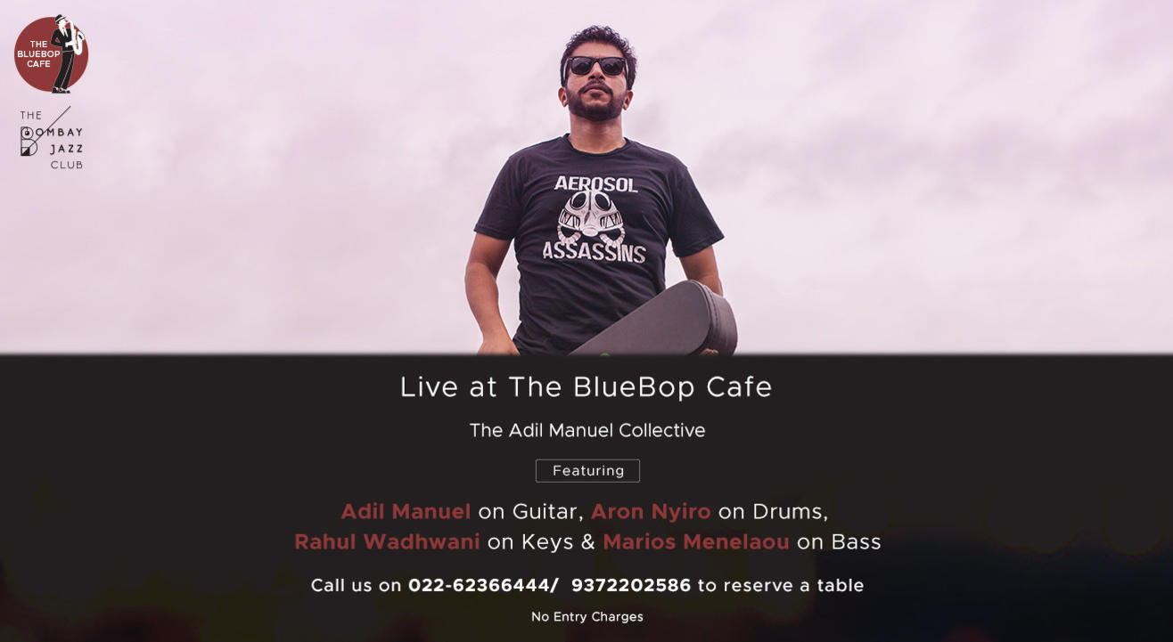 Live at The BlueBop Cafe with The Adil Manuel Collective on November 15th
