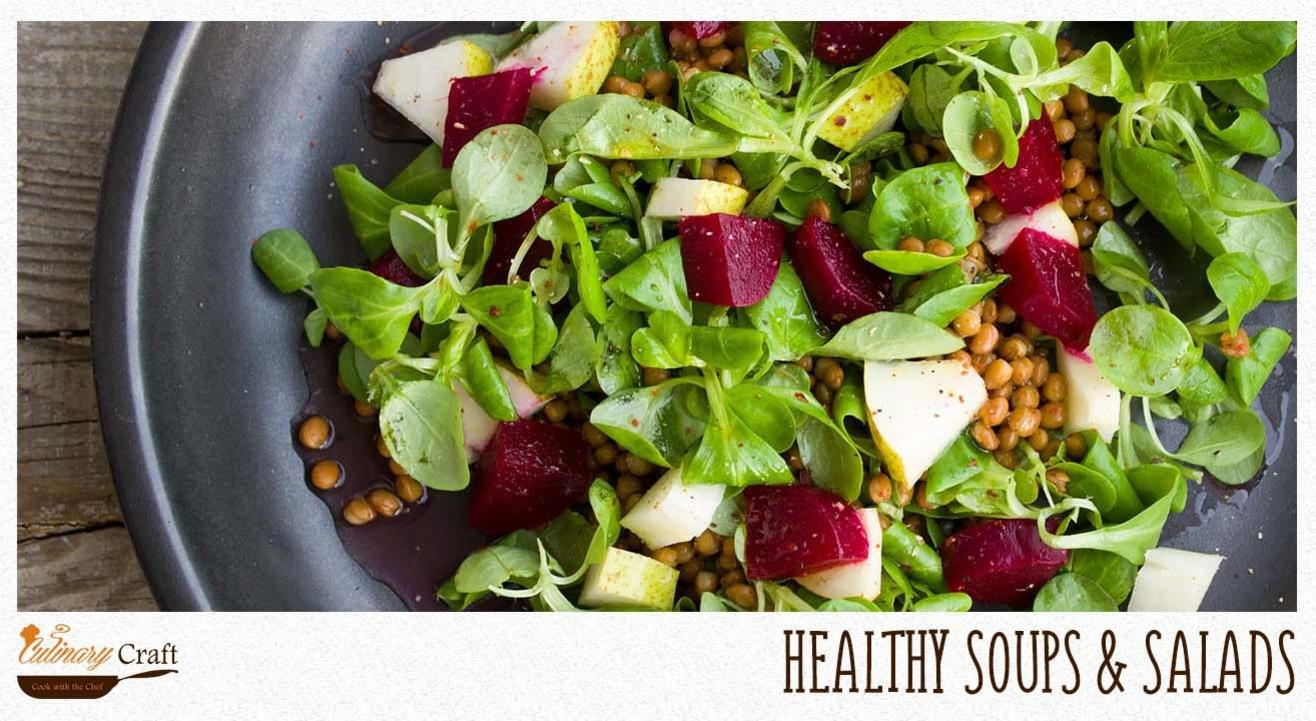 HEALTHY SOUP AND SALADS