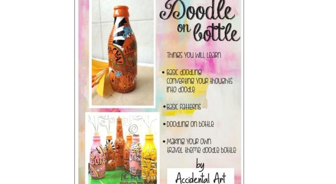 Doodle on bottle-By Urbankala