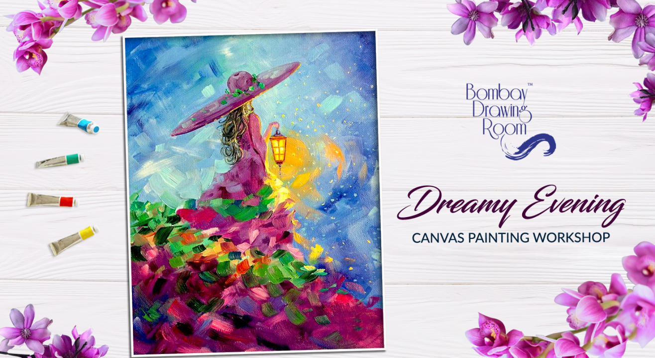 Dreamy Evening Canvas Painting Workshop by Bombay Drawing Room