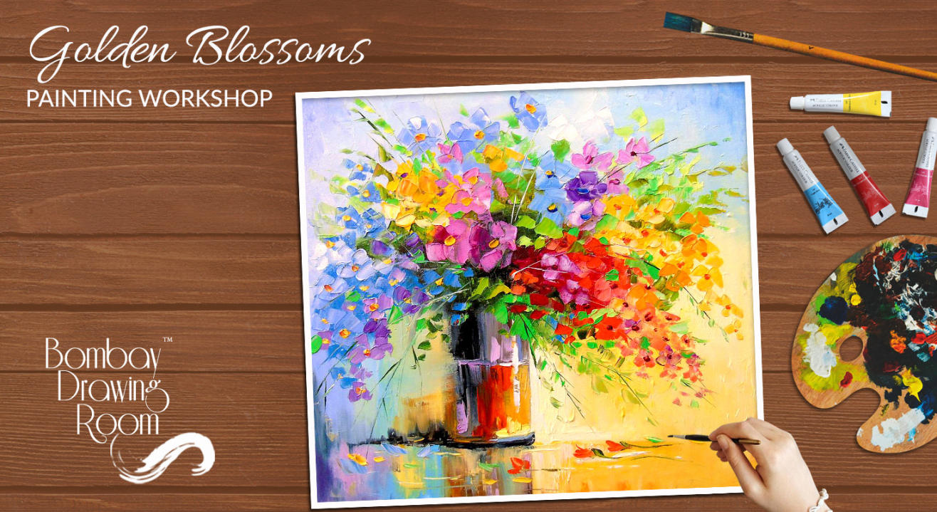 Golden Blossoms Painting Workshop by Bombay Drawing Room