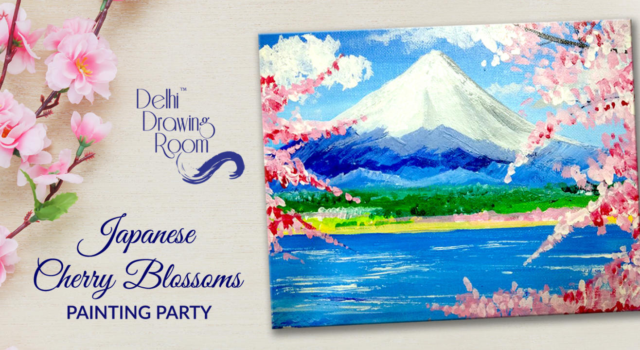 Japanese Cherry Blossoms Painting Party by Delhi Drawing Room