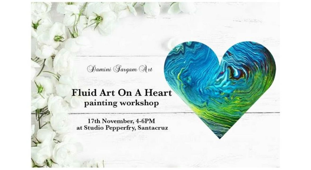 Fluid Art On A Heart Painting Workshop: By Damini Sargam