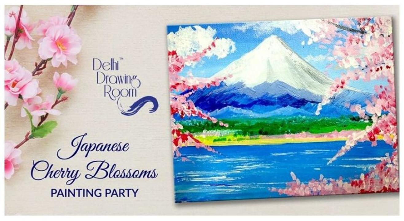 Japanese Cherry Blossoms Painting Party: By Delhi Drawing Room