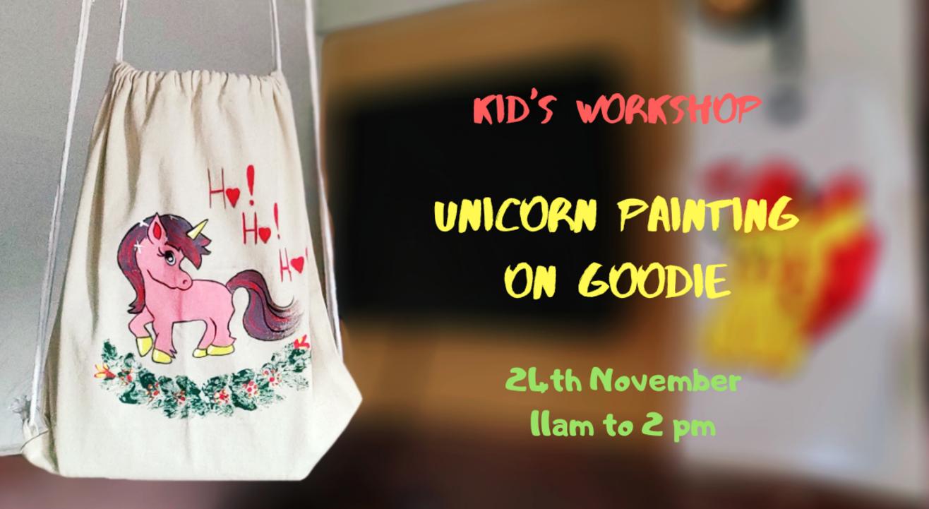 Unicorn painting on Goodie (Kids Workshop)