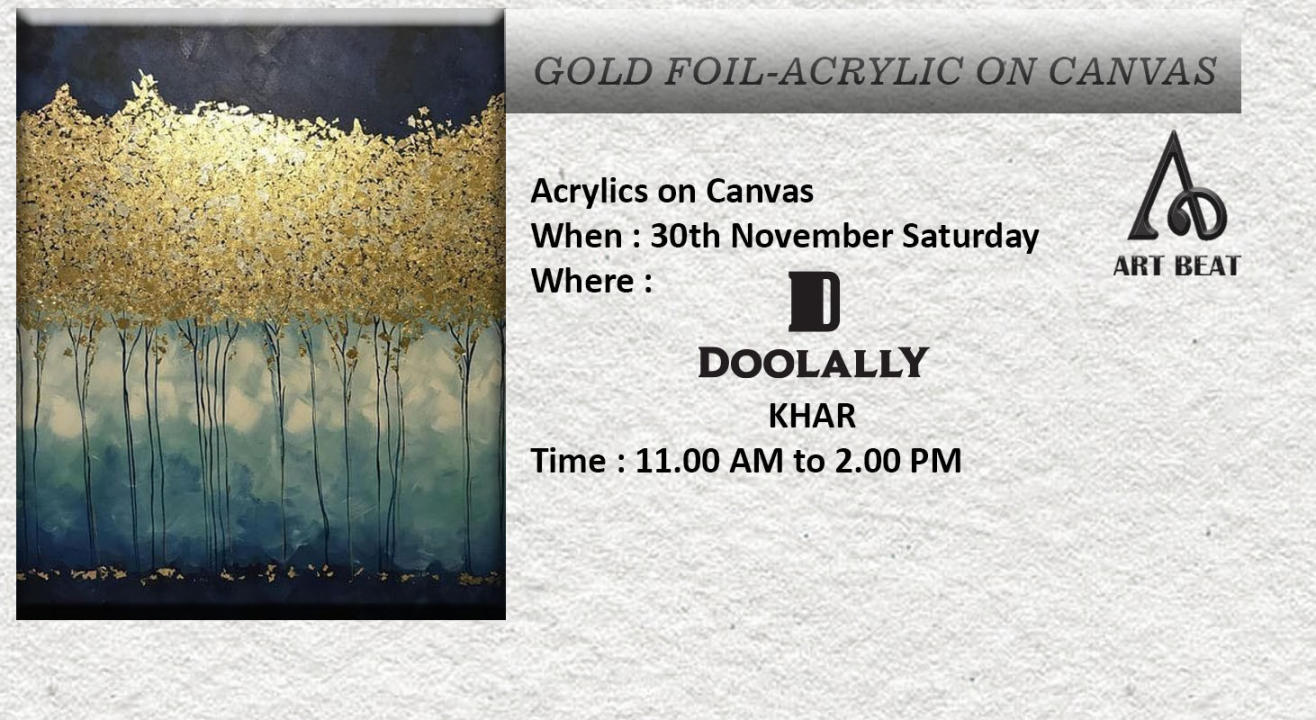 Gold Foil Acrylic Painting