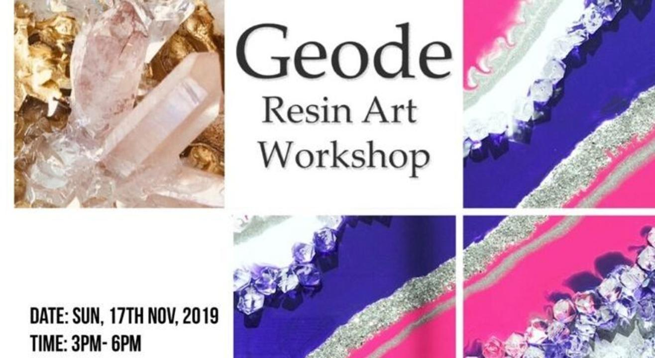 Geode Resin Art Workshop- By Shama