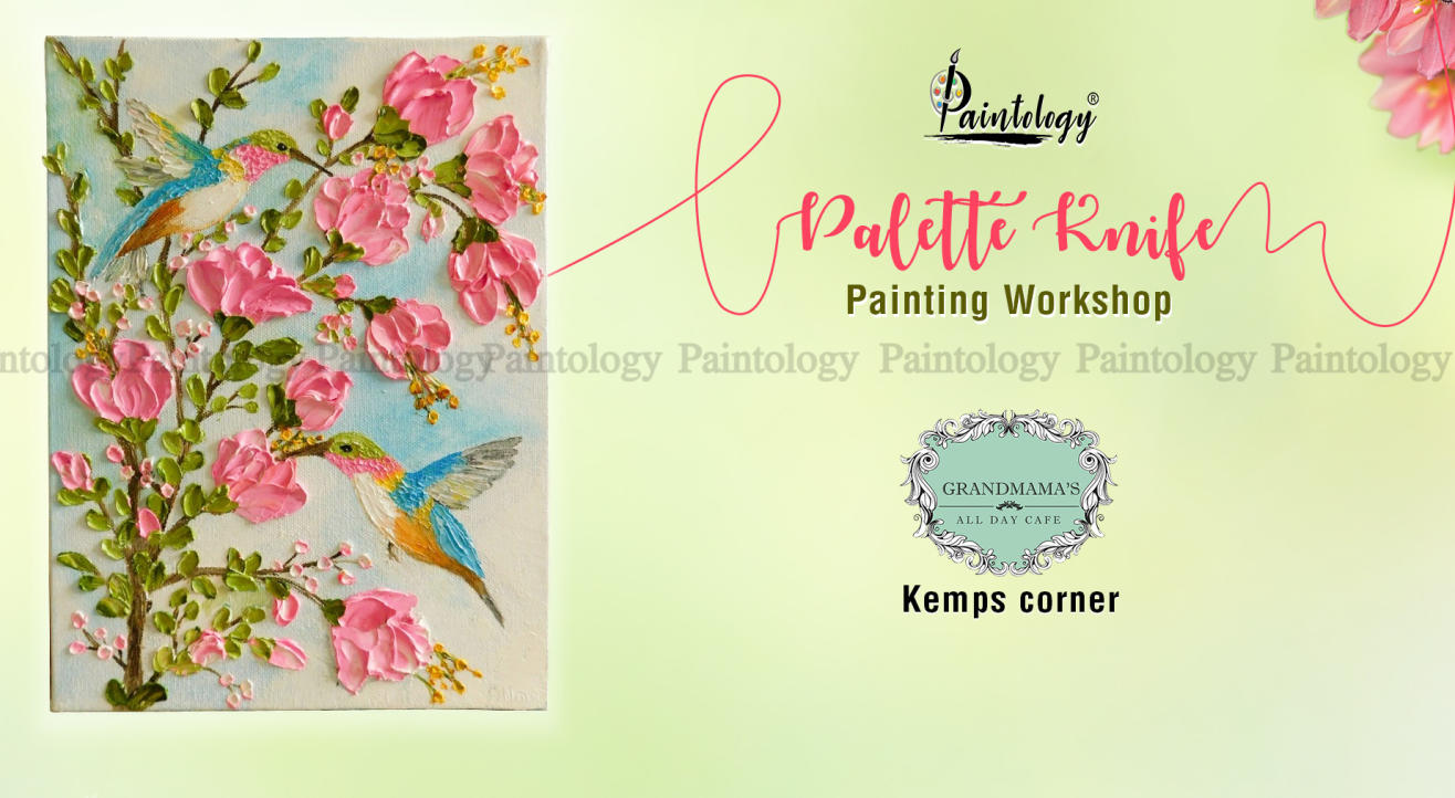 'The Humming Bird' Impasto Knife  + Spoon Painting party by Paintology