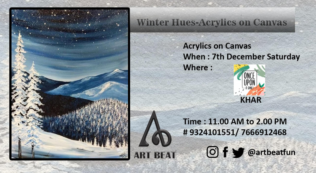 Winter Hues Acrylics on canvas