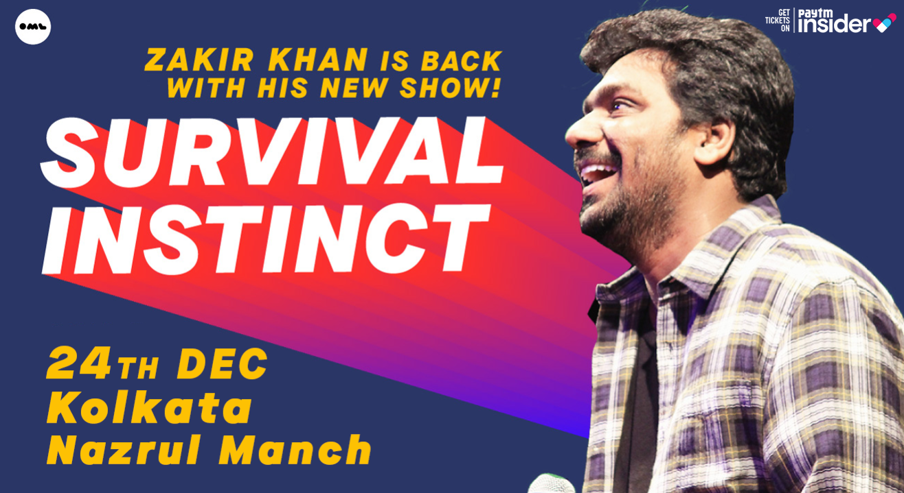 Survival Instinct A New Stand up Special by Zakir Khan | Kolkata