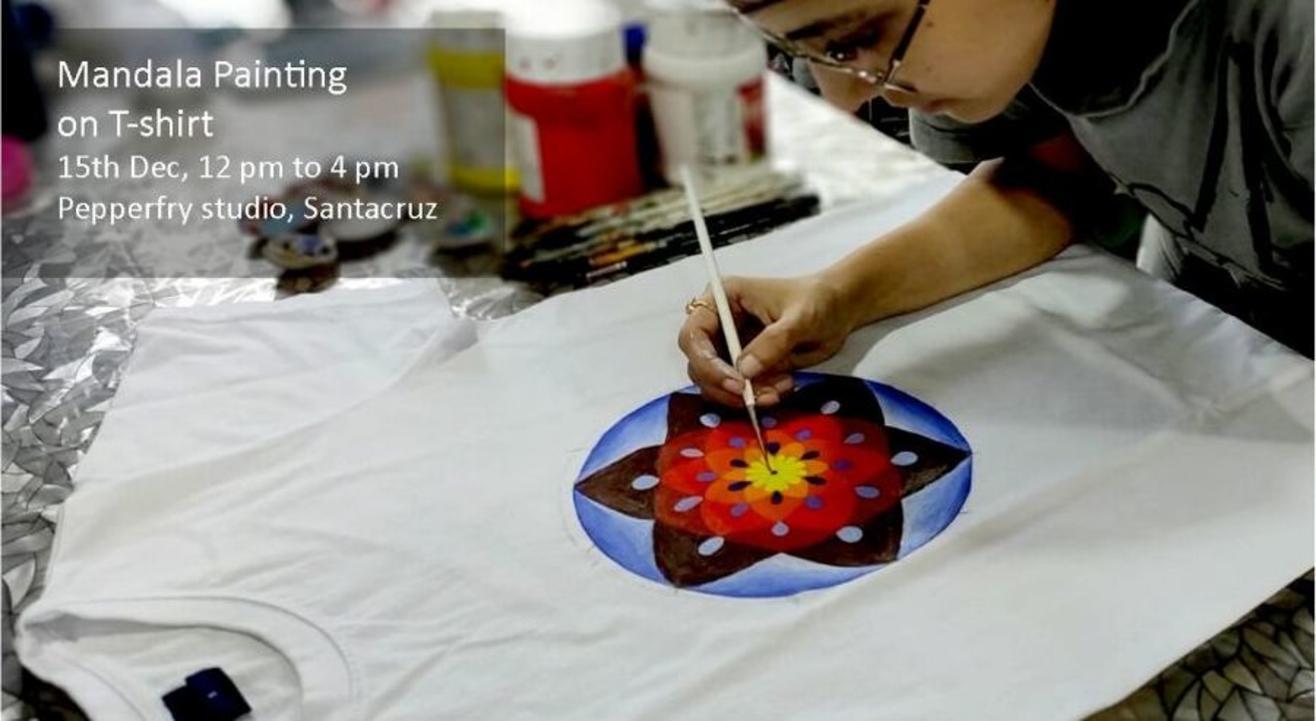 Mandala Painting on T-shirt: By Daminih