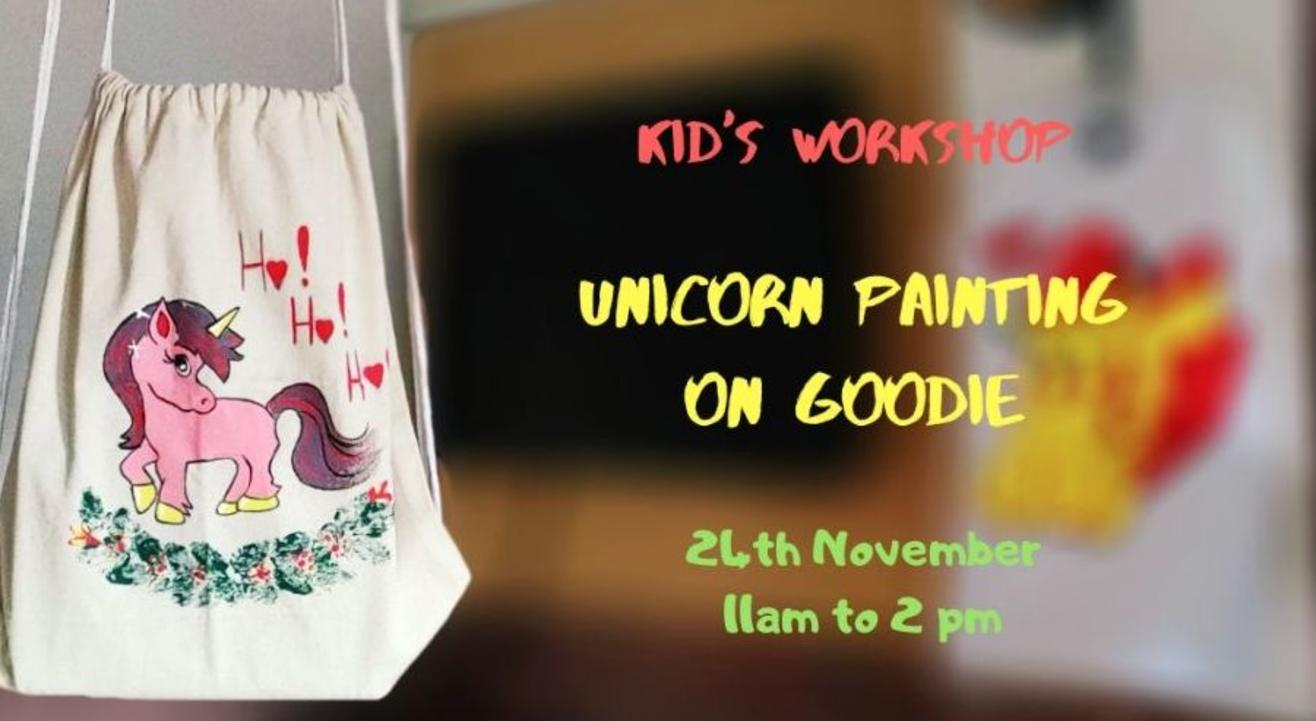 Unicorn Painting on Goodie (Kids Workshop): By Daminih