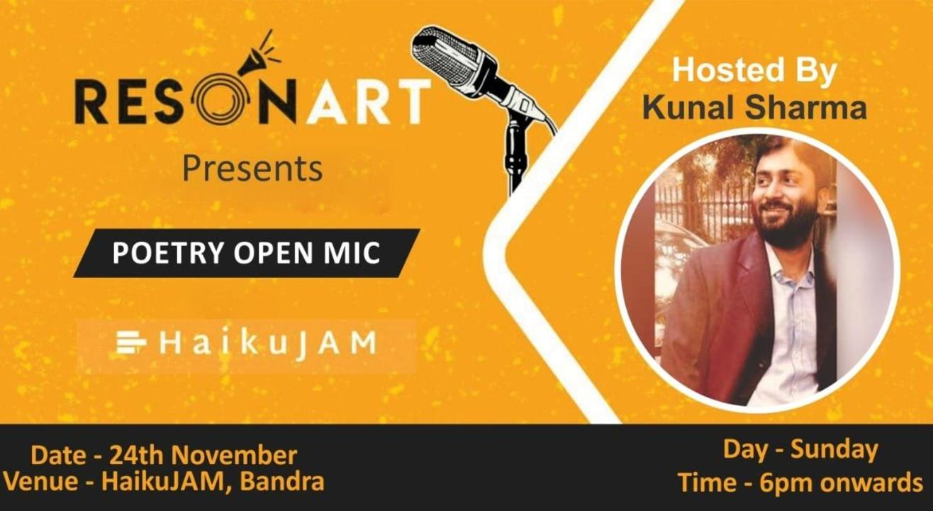 Resonart presents Poetry Open Mic hosted By Kunal Sharma
