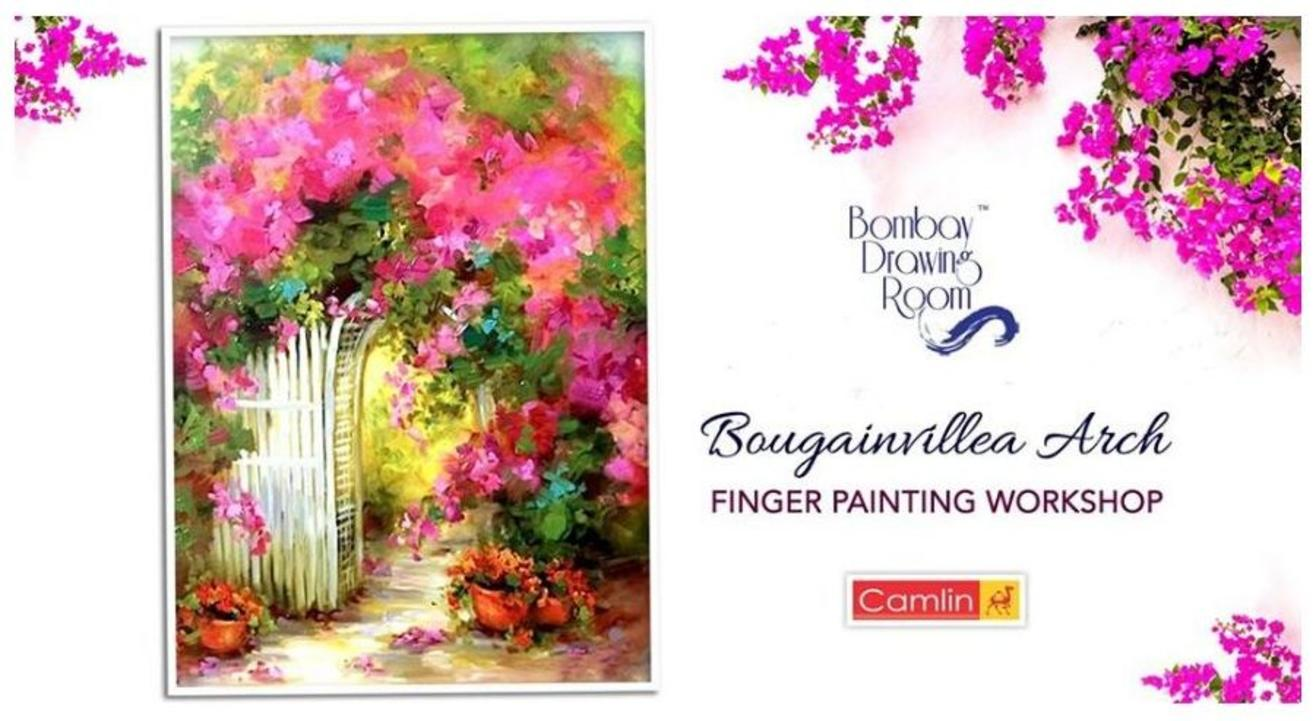 Bougainvillea Arch Finger Painting Workshop-By Bombay Drawing Room