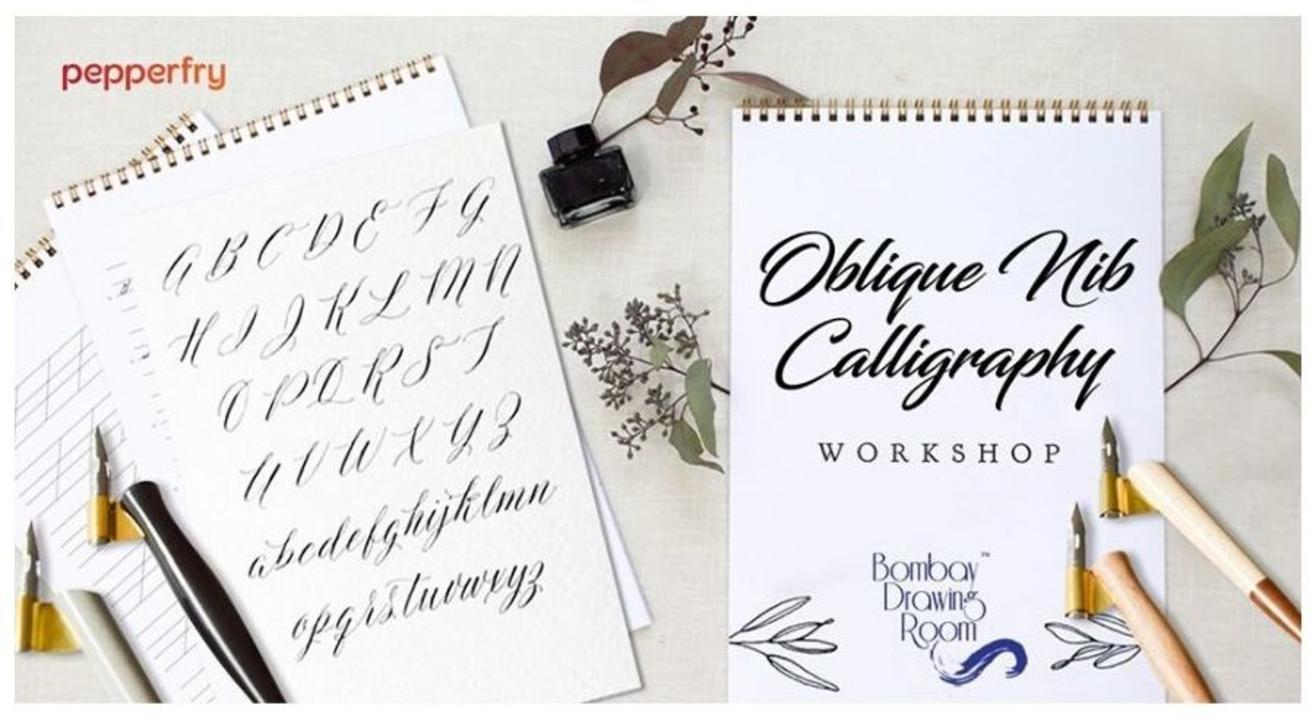 Oblique Nib Calligraphy Workshop-By  Bombay Drawing Room