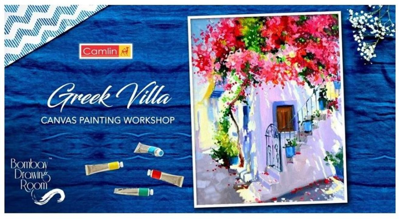 Greek Villa Canvas Painting Workshop- Bombay Drawing Room