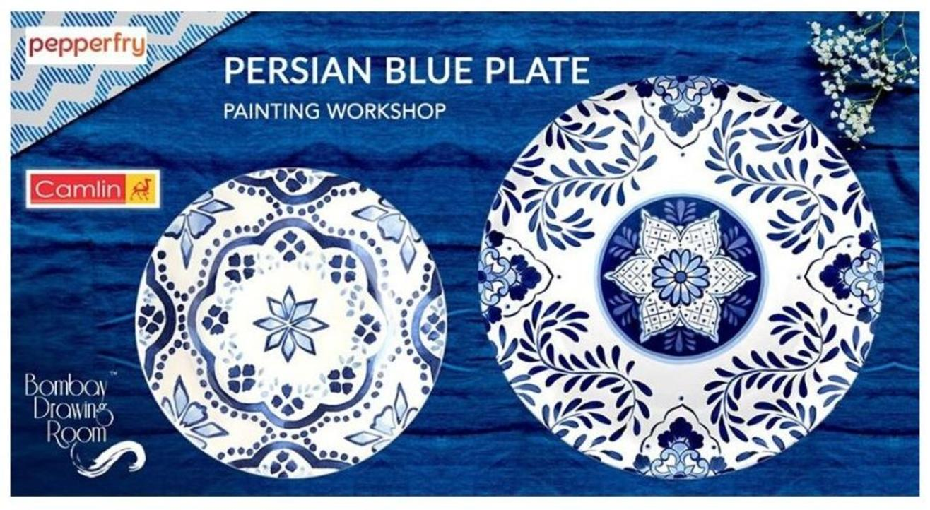 Persian Blue Plate Painting Workshop-By  Bombay Drawing Room