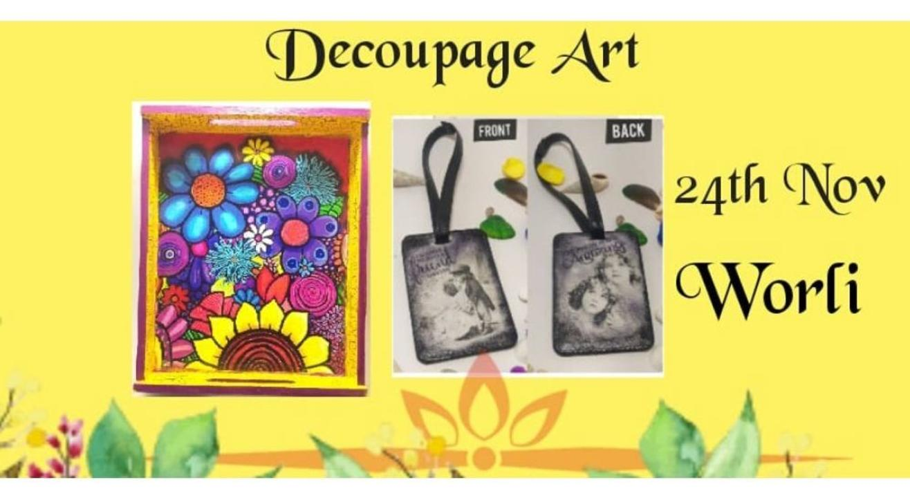 Decoupage Art On Tray: By KraftBox1
