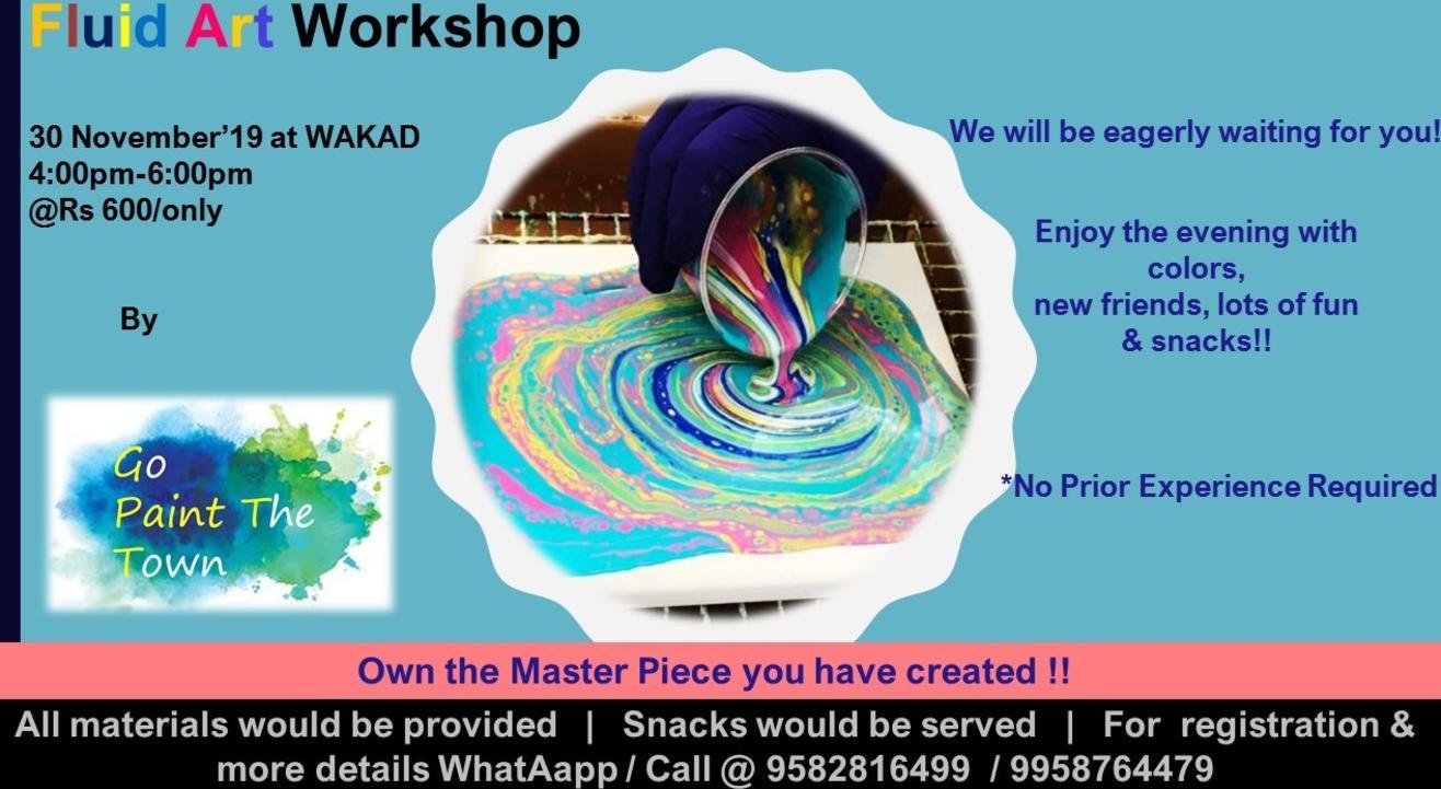 Fluid Art Workshop, Pune