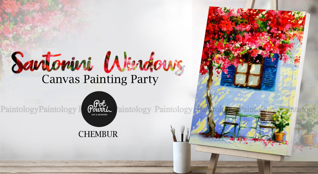 Canvas Painting party 'Santorini Windows' by Paintology