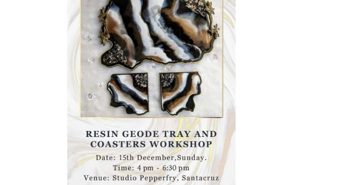 Resin Geode Tray and Coasters Workshop: By Yuti Gogri