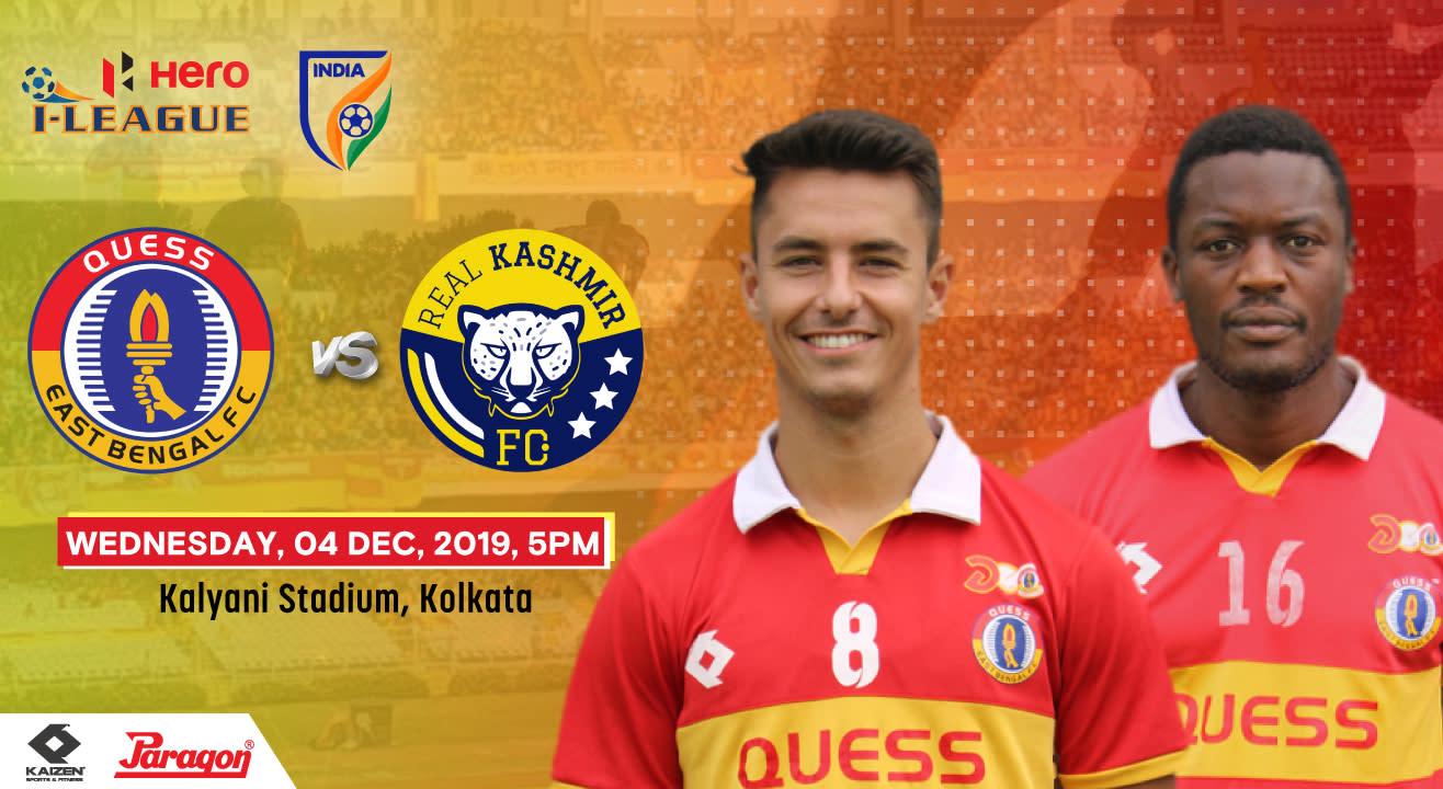 Hero I League 2019 - Quess East Bengal FC vs Real Kashmir FC
