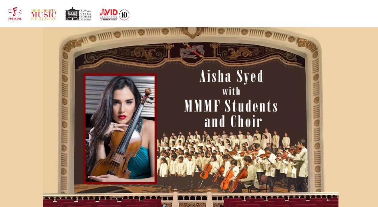Aisha Syed with MMMF Students and Choir