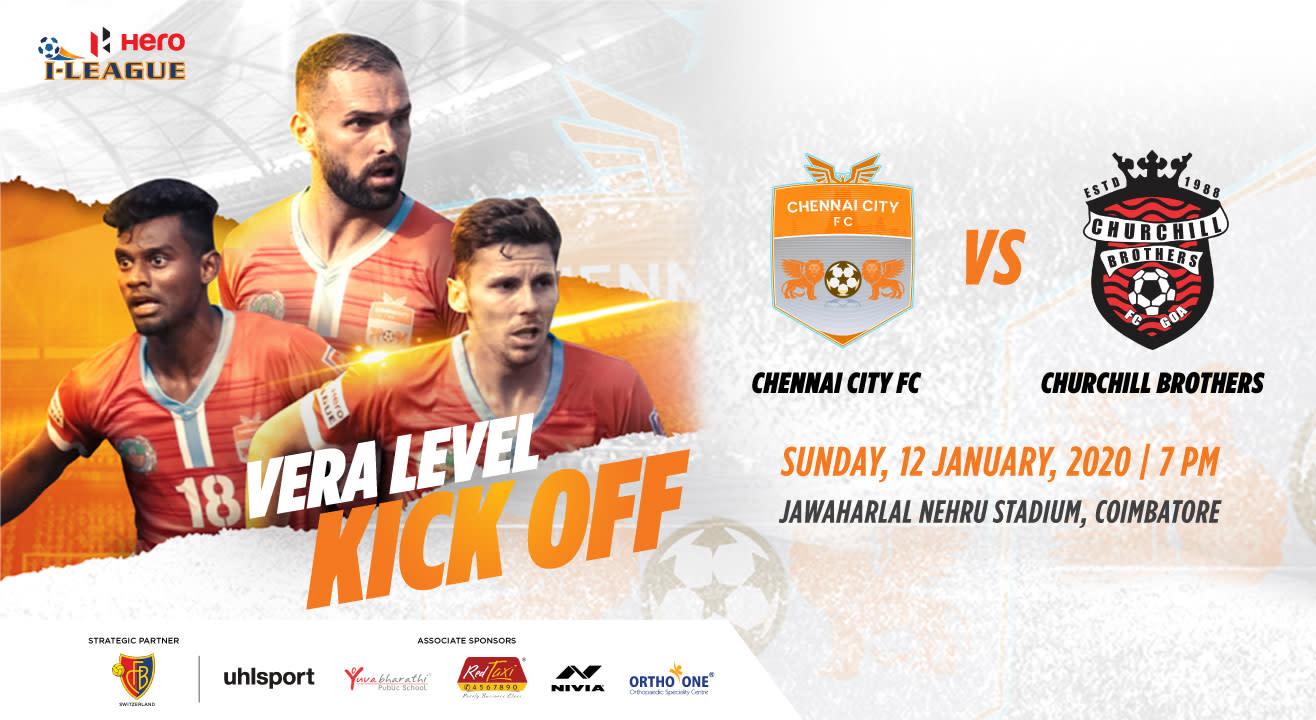 Hero I League 2019-20: Chennai City FC vs Churchill Brothers