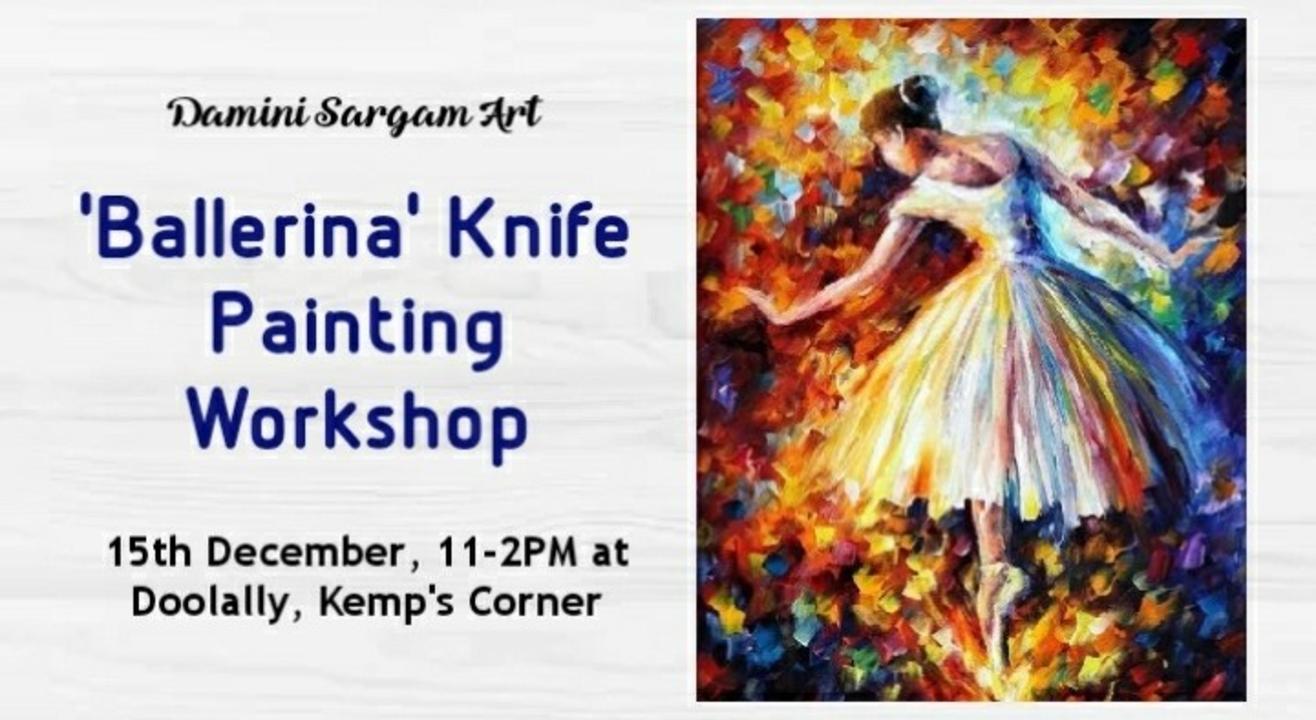 Ballerina Knife Painting Workshop