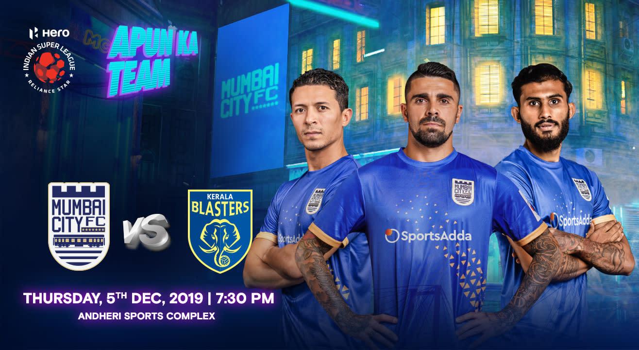 HERO Indian Super League 2019-20: Mumbai City FC vs Kerala Blasters FC