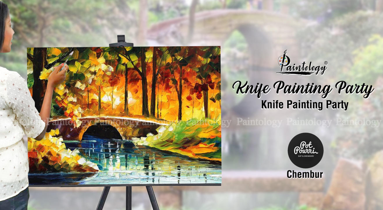 Knife Painting Party at Chembur by Paintology
